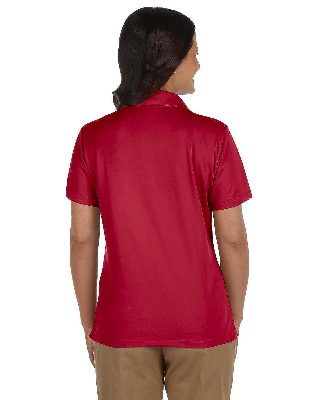 Harriton Ladies Micro-Pique Polo L RED