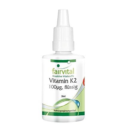 Vitamina K2 100mcg líquida - VEGANO - 30 ml - menaquinona de natto - todo-
