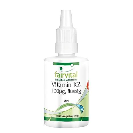 Vitamina K2 mk7 gotas 100mcg- VEGANO - 30 ml - menaquinona de natto - todo-trans MK-7 - ¡Calidad Alemana garantizada!