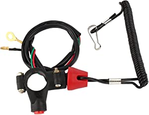 Acouto Engine Cord Lanyard Kill Stop Switch Safety Tether 12V CO For Motor ATV Boat
