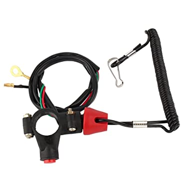 Outboard Engine Motor Scooter ATV Kill Stop Switch Safety Tether Cord Lanyard WH