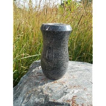 Amazon Gray Granite Monument Vase Cemetery Headstone