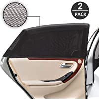 Car Window Sun Shade, DAYPICKER Breathable Mesh Car Rear Side Window Shade-Universal Fit for Most of Cars-Protect Kids Pet from The Sun-Cover Full Windows 2 Pack