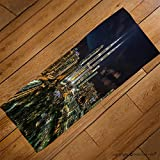VROSELV Custom Towel Soft and Comfortable Beach Towel-Kuala Lumpur Petronas Twin Tower during blue hour_ Design Hand Towel Bath Towels For Home Outdoor Travel Use 27.6''x13.8''
