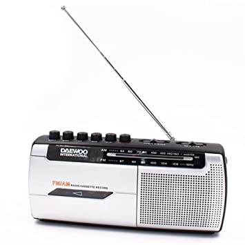 Daewoo DRP-107 Portátil Analógica Negro, Plata - Radio (Portátil, Analógica, Am,FM, 3,5 mm, Negro, Plata, Giratorio): Amazon.es: Electrónica