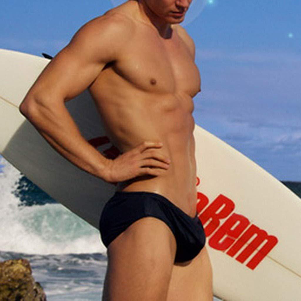 Suma-ma Mens Solid Beach Shorts Sports Breathable Swimwear Briefs Trunks Running Swimming Watershort