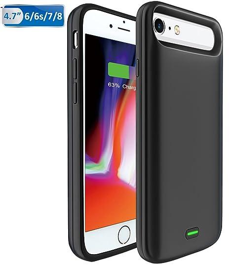 Bovon Funda Bateria iPhone 6 / 6S / 7/8, 5500mAh Bateria Externa Recargable