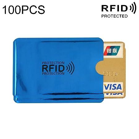 JHMJHM Wallet Card Bag 100 PCS Bloqueo de RFID de Papel de ...