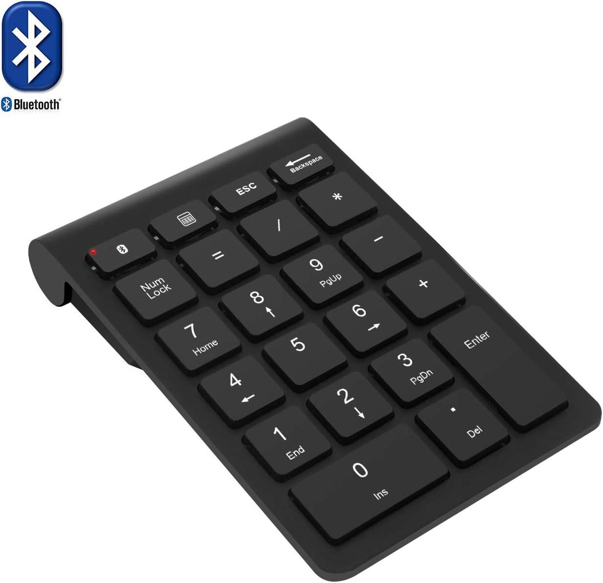 Teclado numérico Bluetooth, Teclado numérico Rytakide 22 Teclas Portable, inalámbrico y Bluetooth Extensiones de tecladopara Data Entry de Contabilidad financierapara Laptop, Escritorio, PC, Notebook