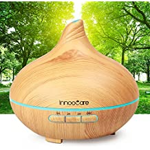 300ml Essential Oil Diffuser Wood Grain with Skid Resistance and Noise Reduction Design InnooCare Cool Mist Humidifiers Ultrasonic, Aroma Diffuser for Office Home Living Room Bedroom Yoga SPA