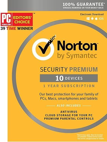 New in Box 10 Devices New Symantec Norton Security with Antivirus Premium