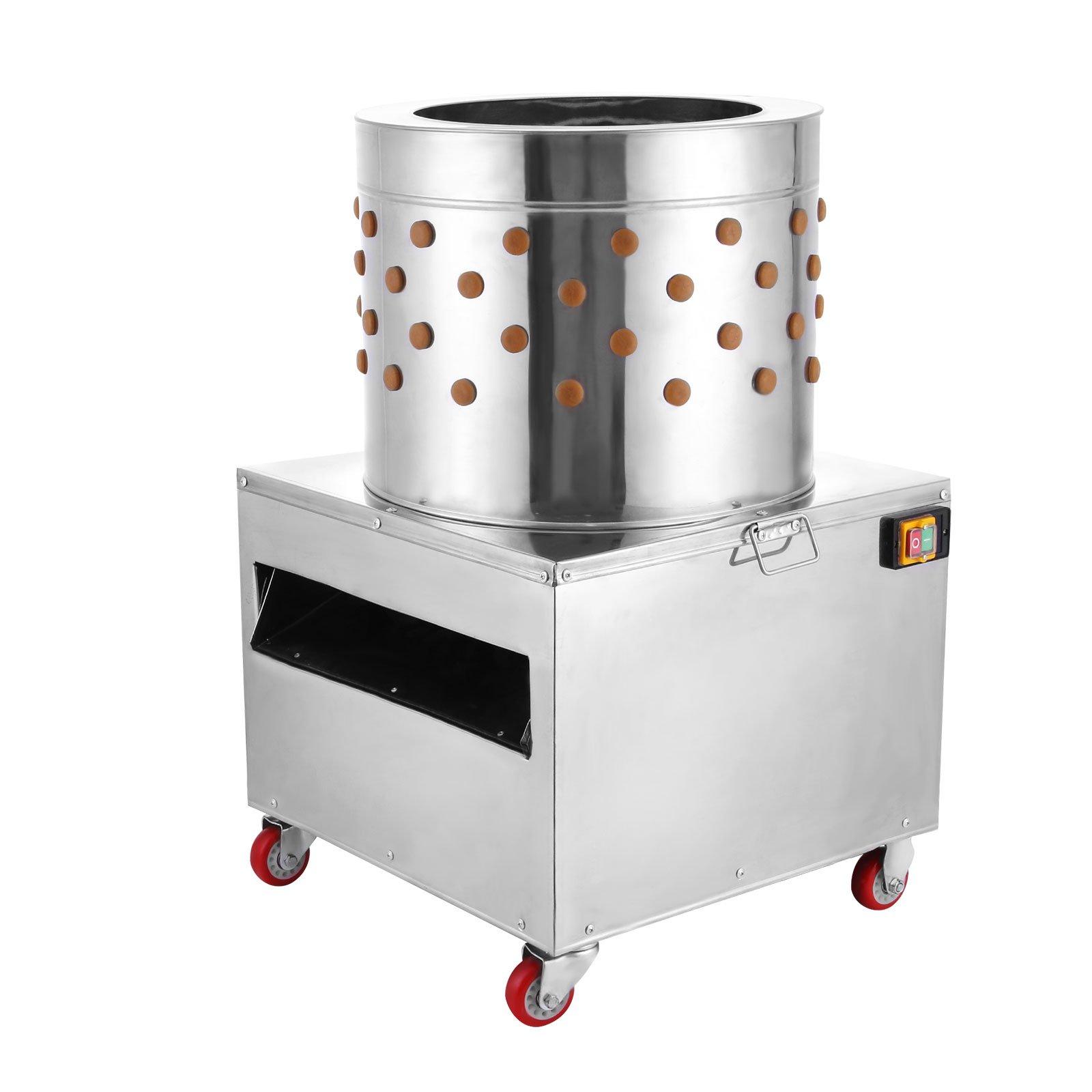 VEVOR Stainless Steel Chicken Plucker Turkey Poultry Defeather Plucking Machine 20Inch by VEVOR