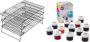 Wilton Excelle Elite 3-Tier Cooling Rack for Cookies, Cakes and More & Icing Colors, 12-Count Gel-Based Food Color
