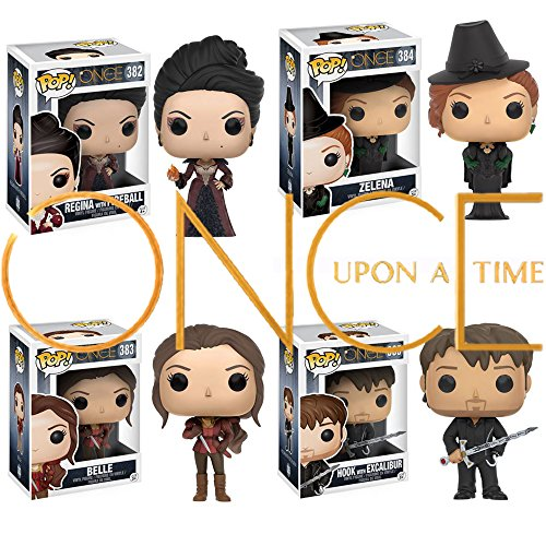 Once Upon a Time Belle, Regina, Hook and Zelena Vinyl Figures! Set of 4 (Once Upon A Time Hook And Belle)