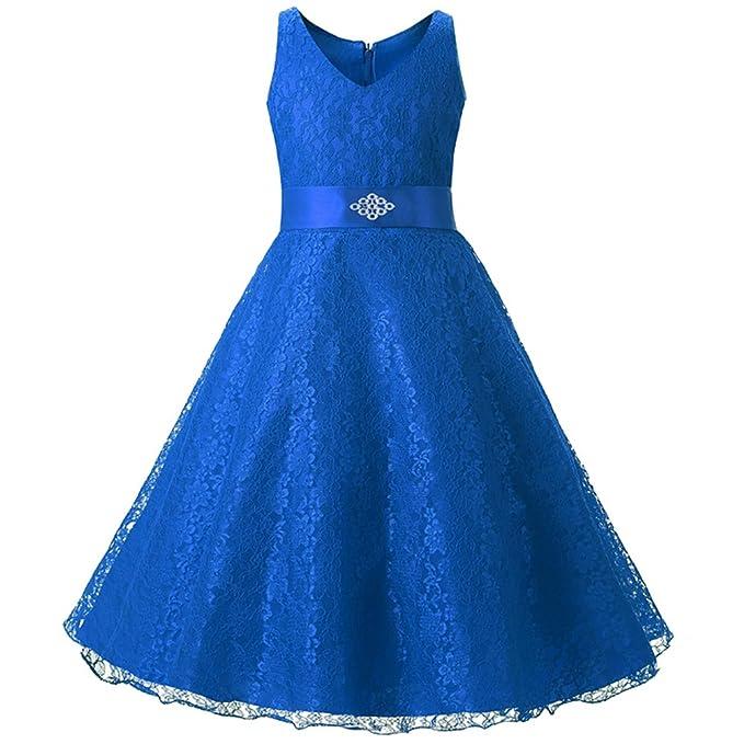 Free Fisher - Niñas Vestido Falda del Cordón del Tutú para Fiesta del Vestido de Boda