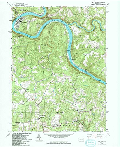 (YellowMaps East Brady PA topo map, 1:24000 Scale, 7.5 X 7.5 Minute, Historical, 1993, Updated 1993, 26.7 x 21.9 in -)