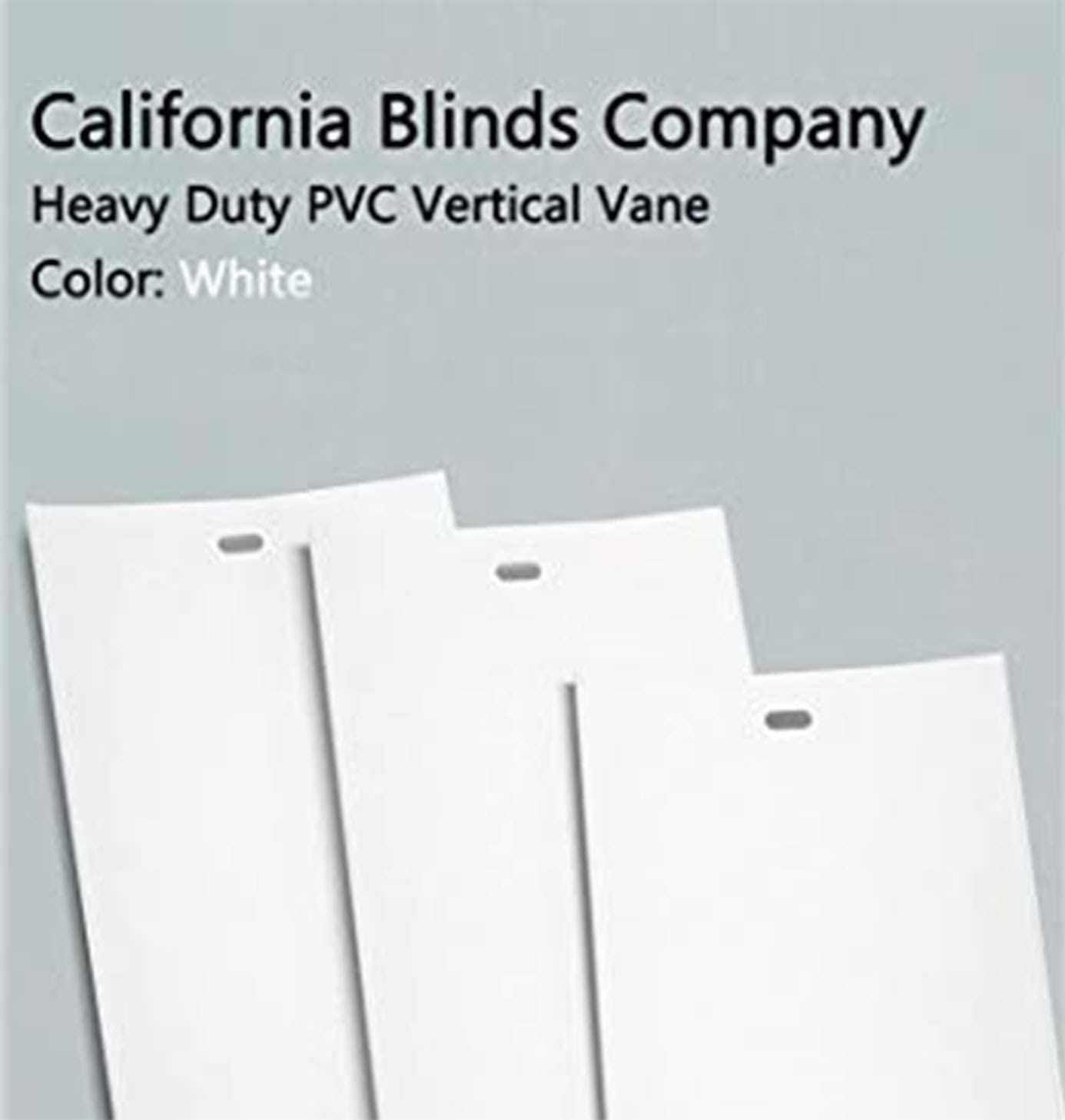 California Blinds Company PVC Vertical Blind Replacement Slat Smooth White You Pick Size and Quantity