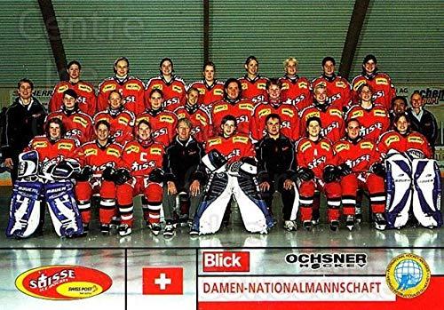 (CI) Swiss National Team, Team Photo Hockey Card 2003-04 Swiss Ice Hockey Cards 496 Swiss National Team, Team Photo