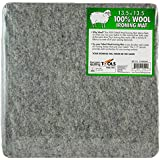 """13.5"""" x 13.5"""" Wool Ironing Mat - 100% New Zealand Wool Pressing Pad, Portable for Quilting Guilds and Classes!"""