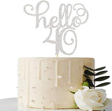 Amazon.com: Decoración para tarta con purpurina de color ...