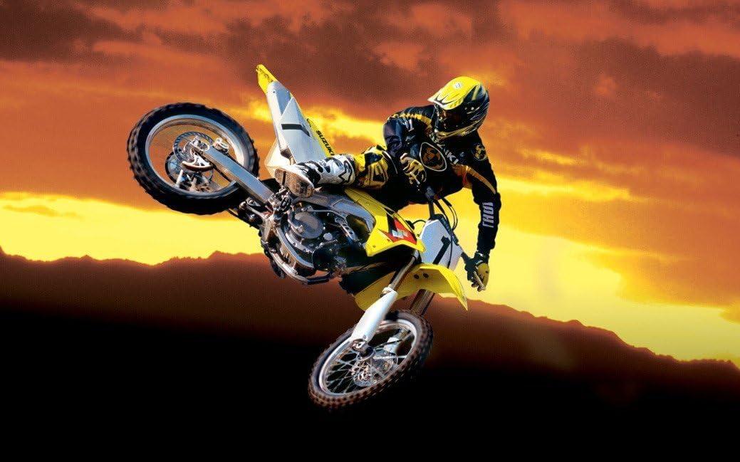 """MOTOCROSS DIRT BIKE JUMP SPORT PHOTO ART PRINT POSTER 20/""""x13/"""" 040"""