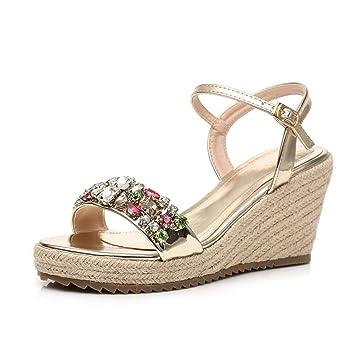Zapatos Con 8 De Eeayyygch SandaliasPedrería Cm Verano Pendiente RL354jA