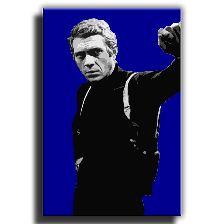 Canvas Culture – Steve McQueen bulliitt Gerahmter Kunstdruck auf auf auf Leinwand Bild 1, Rot, 75 x 50 cm cba9b8