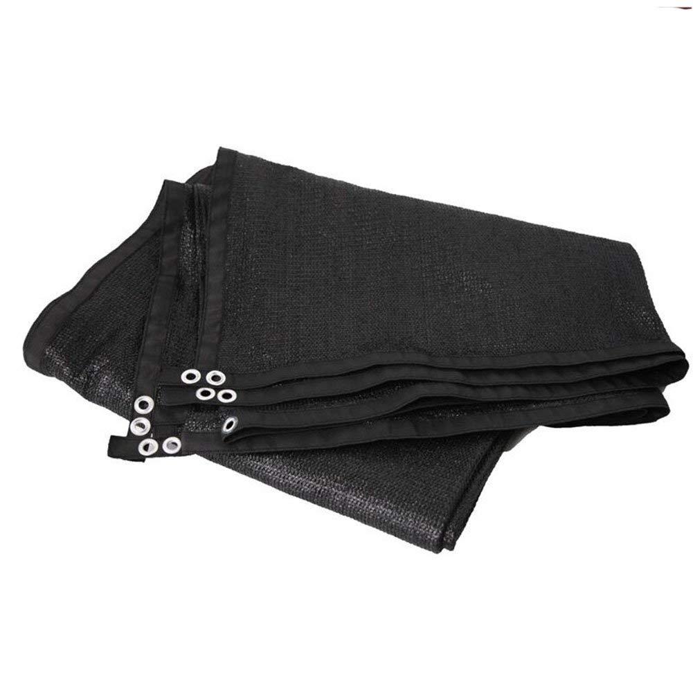 NANIH Home Tissu antipluie imperméable Filet Pare-Soleil Isolant écran Solaire Filet cryptage épaississement Cour Balcon Toit ombrage Filet (Couleur   noir, Taille   6X8M) noir 6X8M