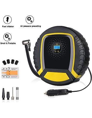 Compresor de Aire Eléctrico, URAQT Portátil Digital Bomba de aire Eléctrico, Pantalla LCD y