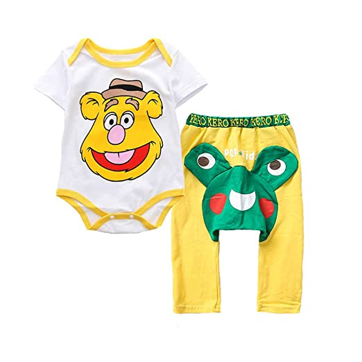 f68a947521ec Cuekondy 6-24 Months Toddler Baby Girl Boy Cute Cartoon Printed Romper  Bodysuit+PP