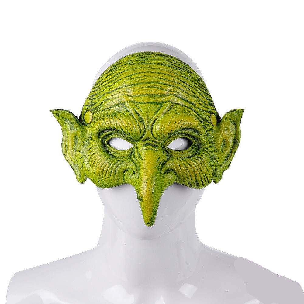 Halloween Carnaval Festival Party 3D Soft Pu Foam Witcher Masquerade Crossdresser Green Goblin Mask by superstar shop