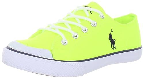 Polo Ralph Lauren Chandler Chandler - K - Zapatillas de Deporte de Lona para niños, Color Amarillo, Talla 32: Amazon.es: Zapatos y complementos