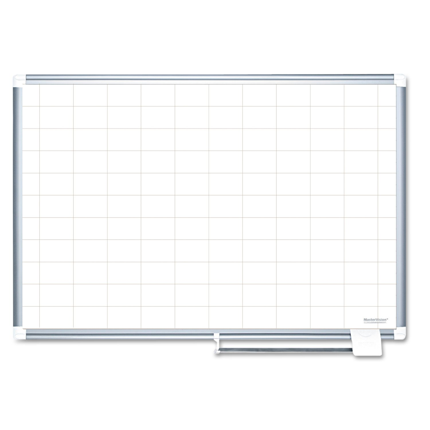 MasterVision MA2793830 Grid Planning Board, 2x3 Grid, 72x48, White/Silver