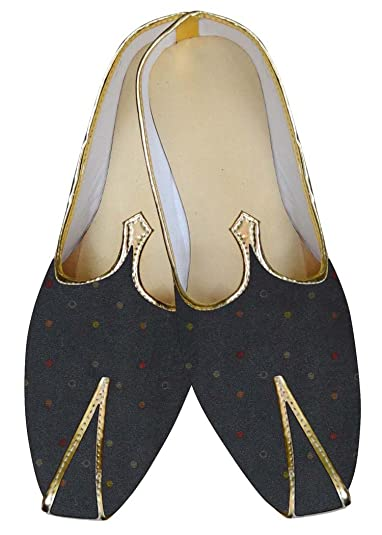 Mens Gray Wedding Shoes Dotted Design MJ015609