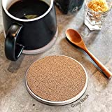 Coasters for Drinks, Absorbent Ceramic Stone