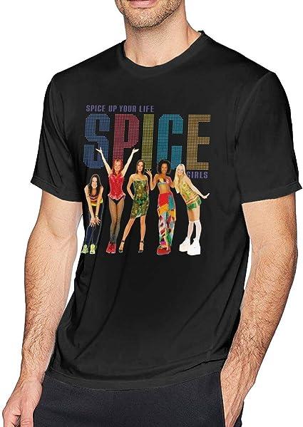 Free World Hombre Spice Up Your Life Spice Girls Camiseta de Manga Corta de Algodón: Amazon.es: Ropa y accesorios