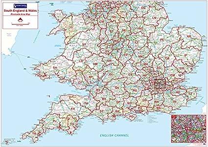 Código postal mapa de la zona 4 – sur de Inglaterra y Gales ...