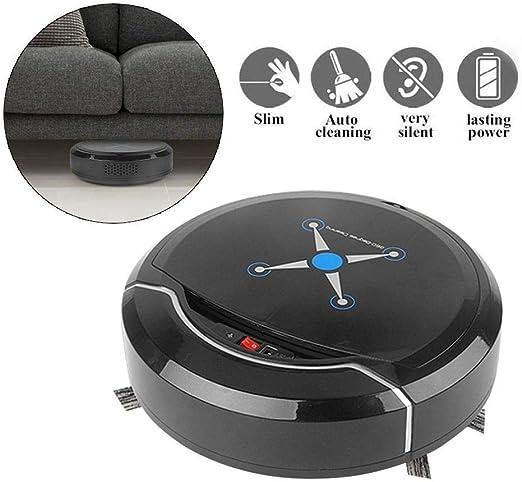 QYLT Aspirador de Robot, Robot de Limpieza automático, Superfino, Succión Fuerte de 1500Pa, Sensor de caída ...