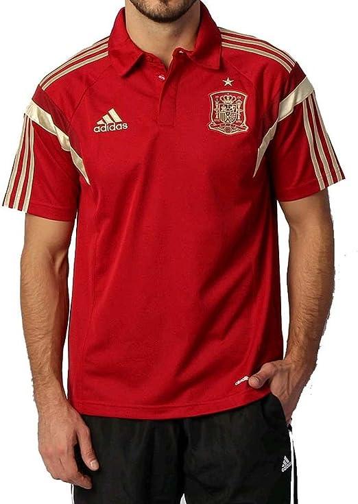Adidas Polo Selección Española -Rojo- 2014: Amazon.es: Deportes y ...