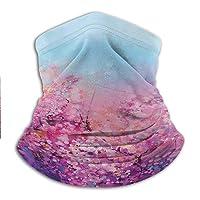 Neck Gaiter Women Flower Headband Neck Gaiter Sakura Blossom Floral Beauty with...