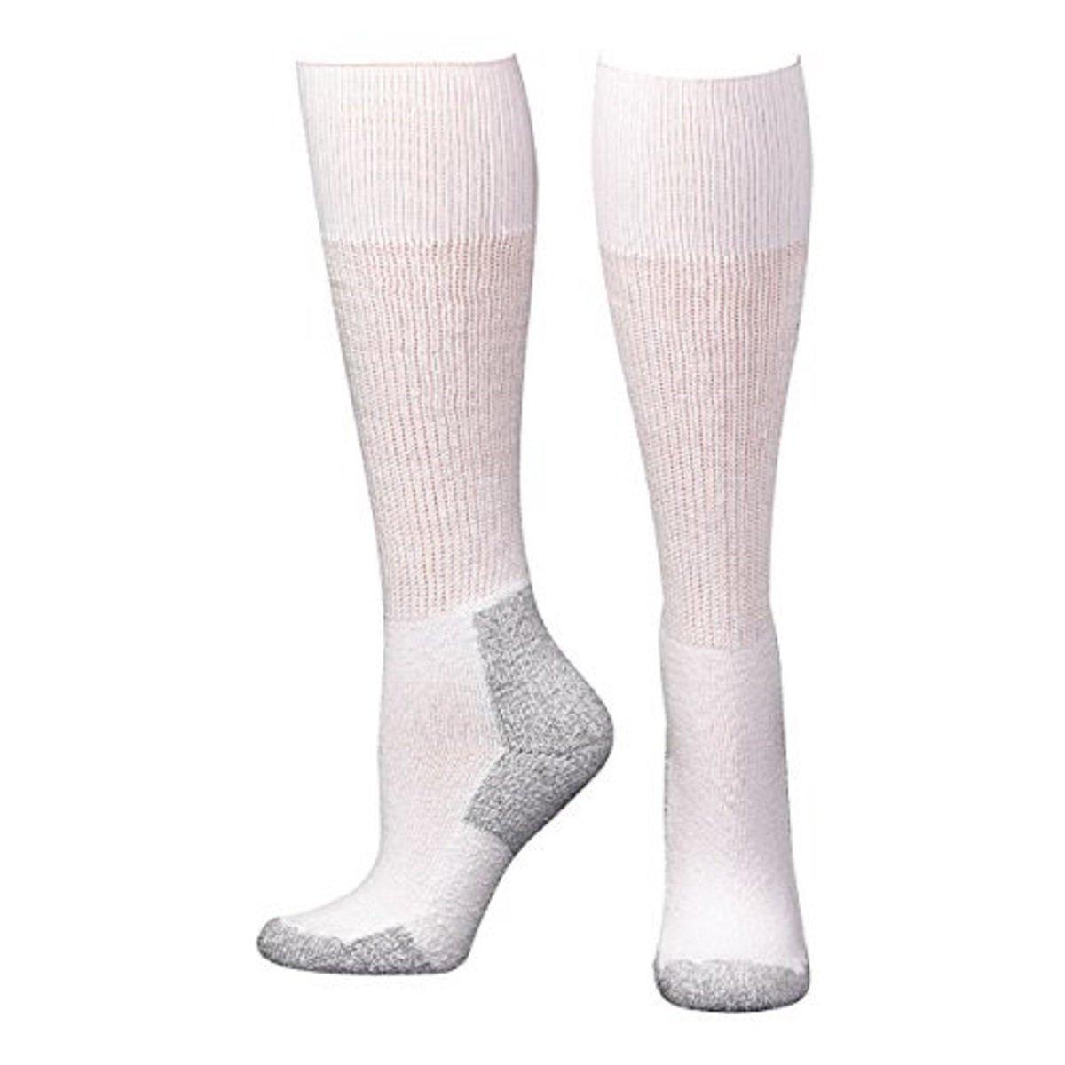 Boot Doctor Men's Over The Calf Socks 3-Pack White Large