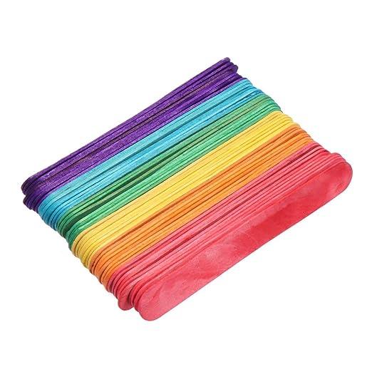 Amosfun 250 Piezas Palos de Madera de Manualidades de Colores ...