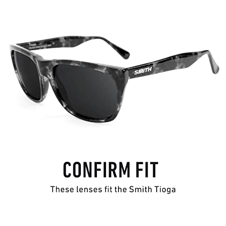 5d49fc44b3b Amazon.com  Revant Polarized Replacement Lenses for Smith Tioga Elite Black  Chrome MirrorShield  Sports   Outdoors