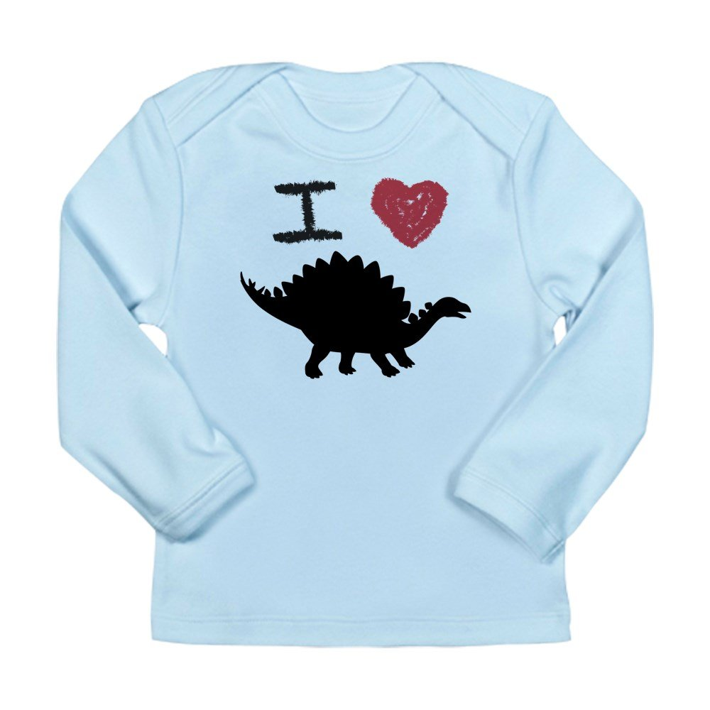 Stegosaurus Sky Blue Truly Teague Long Sleeve Infant T-Shirt I Love Dinosaurs 3 To 6 Months
