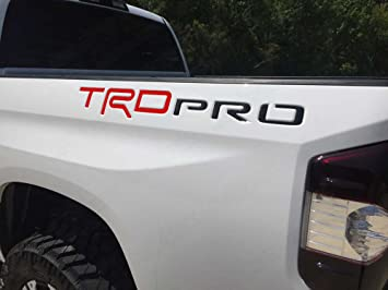 BDTrims Tailgate Domed 3D Raised Letters Compatible with 2014-2020 Tundra Models Black with Red Outline
