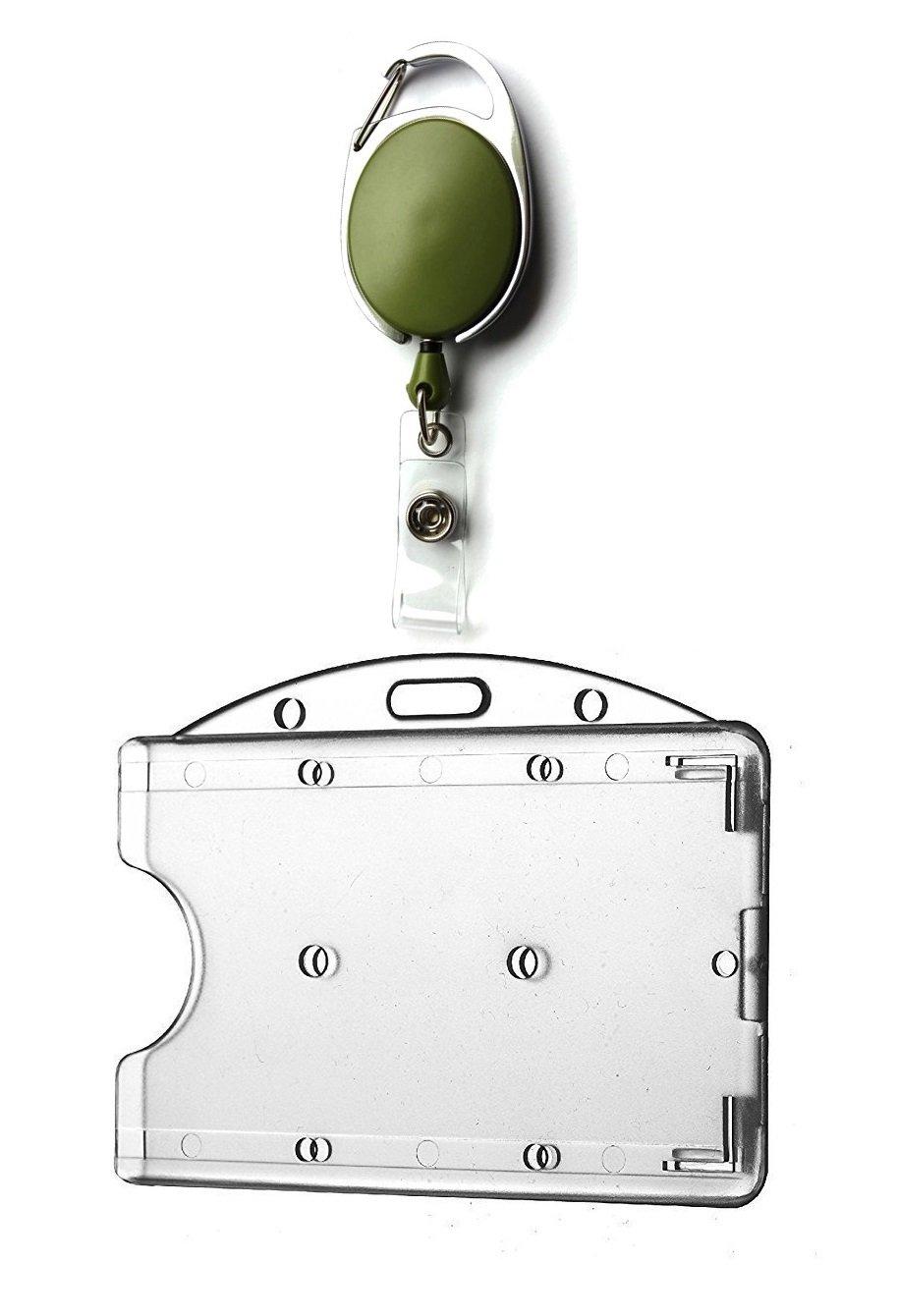 Kartenhalter Daumeneingriff Kartenh/ülle Ausweis H/ülle querformat horizontal GROSSE FARBAUSWAHL Ausweisjojo Jojo Zipper oval Waizmann.IDeaS 1x Ausweisset