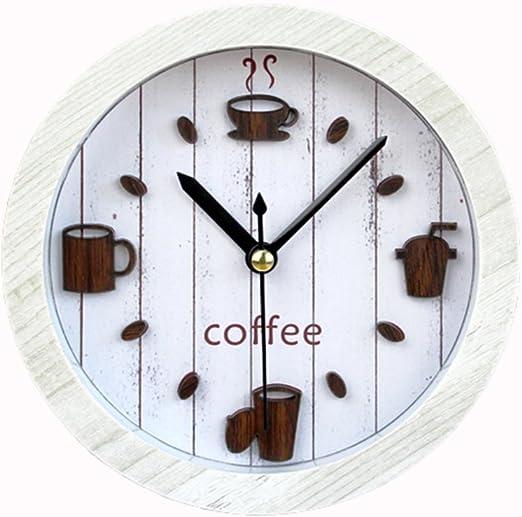 Reloj Despertador 3D Clásico Vintage Silencioso Cafetera Madera ...