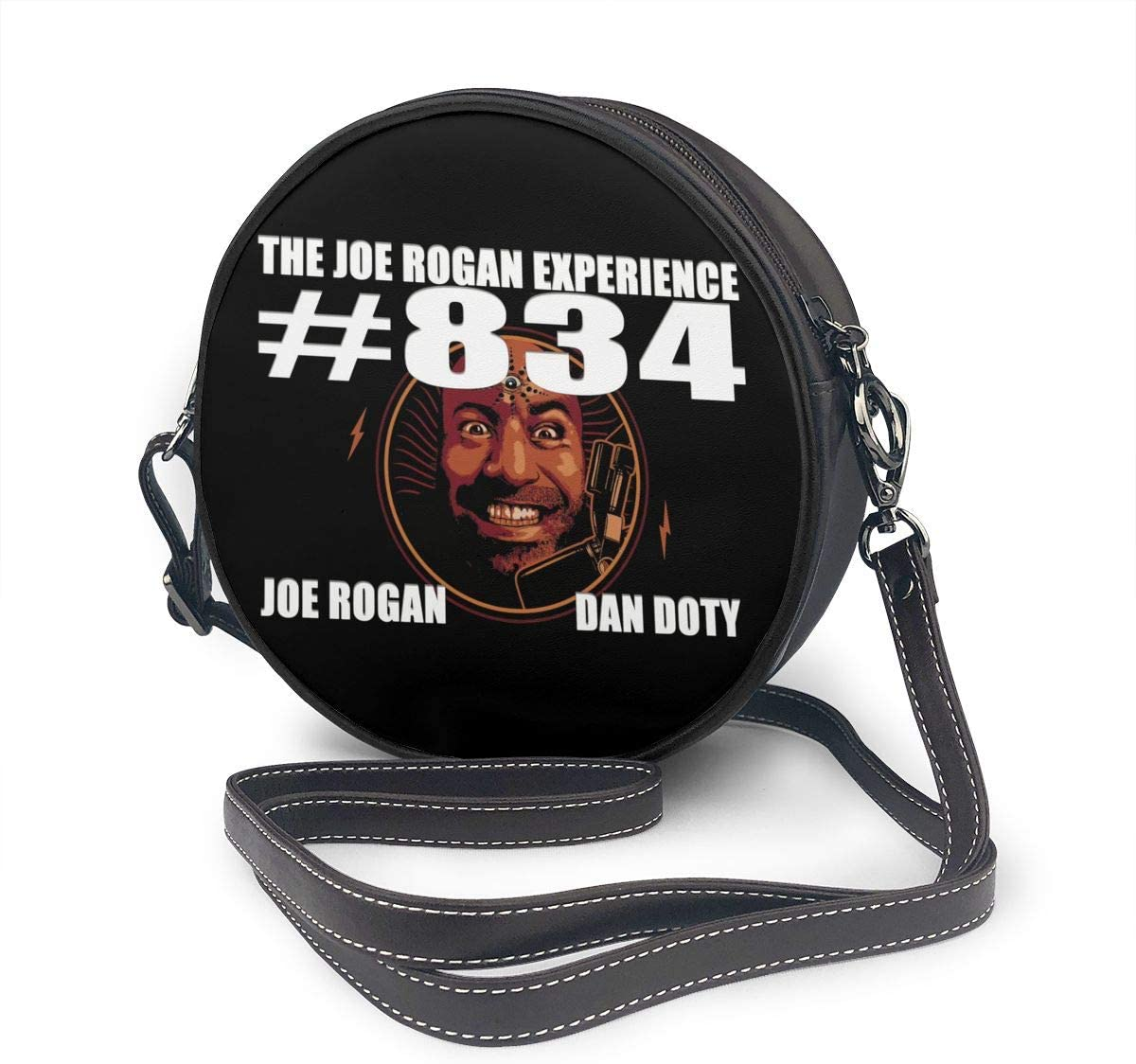 Huaichuanhua The Joe Rogan Experience Leather Shoulder Round Bag