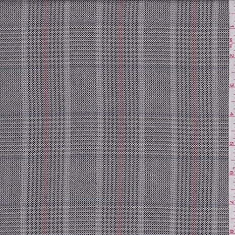 Grey Rayon//Wool Blend Suiting Apparel Sewing Fabric By the yard