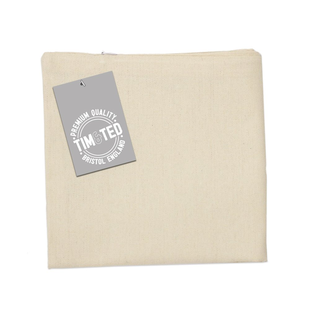 Tim And Ted Novelty Cushion Cover Fork With Spoon Text White One Size